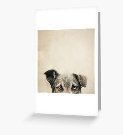 Half Dog Greeting Card