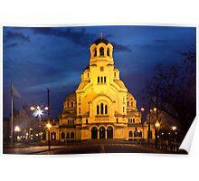 Cathedral church Saint Alexandar Nevsky in Sofia, Bulgaria Poster
