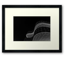 Getty Black and White Abstract number 2 Framed Print