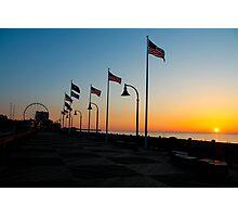 Myrtle Beach Boardwalk Sunrise Photographic Print
