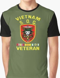 MacVsog Vietnam Veteran Graphic T-Shirt