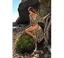 Sexy resort ware on location of CA coastline I Photographic Print