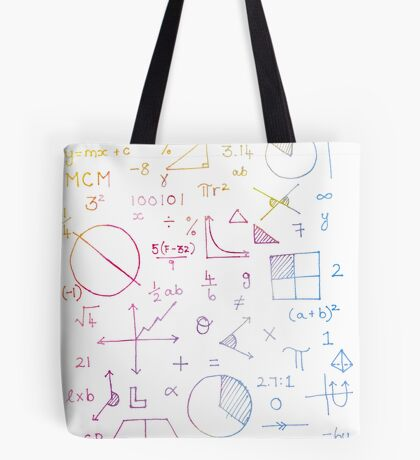 Math formulae (white) Tote Bag