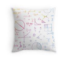 Math formulae (white) Throw Pillow