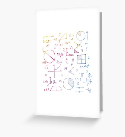 Math formulae (white) Greeting Card