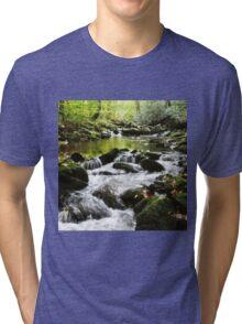 Calming Creek Forest Tri-blend T-Shirt