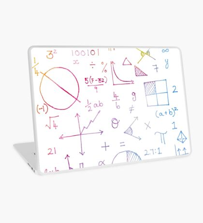 Math formulae (white) Laptop Skin
