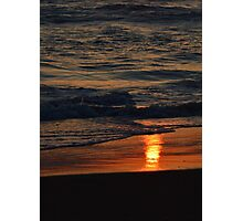 Sunrise Reflection on the Sand Photographic Print