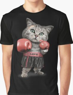 BOXING CAT Graphic T-Shirt