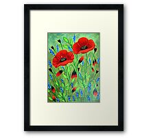 Poppies for you Framed Print