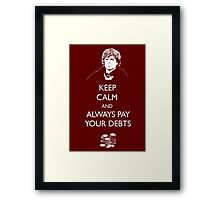 Keep Calm Lannister Framed Print