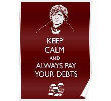 Keep Calm Lannister Poster