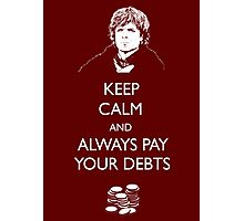 Keep Calm Lannister Photographic Print