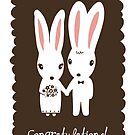 Bunnies Wedding Congratulations by Jenn Inashvili