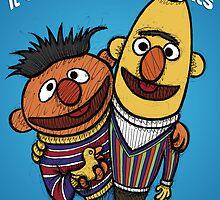 Bert and Ernie Gay Rights by Brett Gilbert