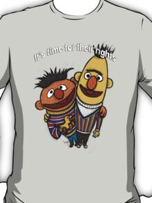 Bert and Ernie Gay Rights T-Shirt