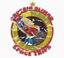 Pikmin Space Trips One Piece - Short Sleeve