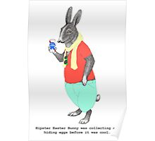 Hipster Easter Rabbit Poster