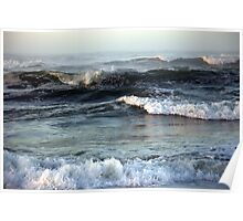 West Coast morning waves... Poster