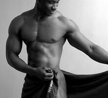 Teaser - nude black man posing... by Chris Fick