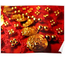 Coin Belt in Red and Gold Poster