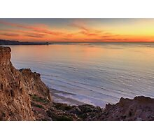 Sunset on the Pacific from Torrey Pines State Beach Photographic Print