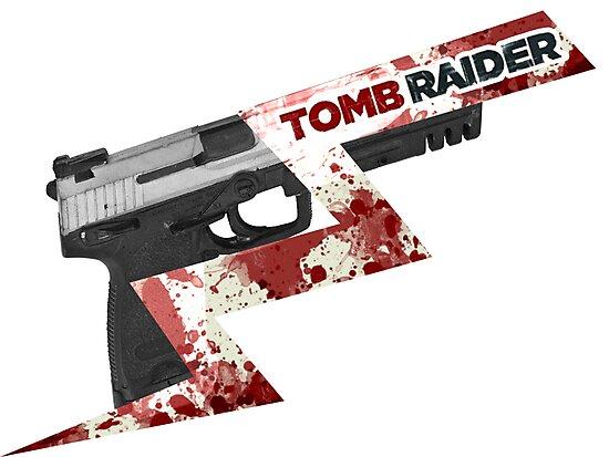 Tomb Raider 2013 'Pistol' by Geckoface