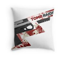 Tomb Raider 2013 'Pistol' Throw Pillow