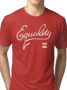 Equality - White Tri-blend T-Shirt