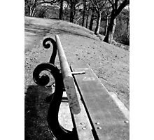 A favourite bench Photographic Print