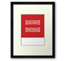 marriage equality symbol Framed Print