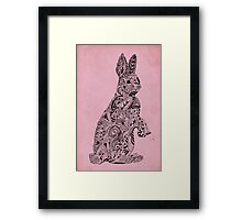 Rabbit_Pink Framed Print