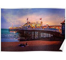 Brighton's Palace Pier at Dusk Poster