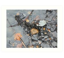 Vermillion River Gravel Art Print