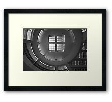 Getty Black and White Abstract number 3 Framed Print