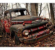 Grampa's Truck Photographic Print