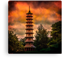 Kew Gardens Pagoda Canvas Print