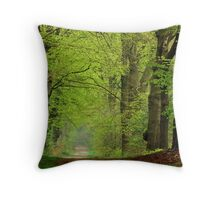 Spring shall overcome Throw Pillow