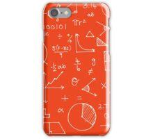 Math formulae (red) iPhone Case/Skin