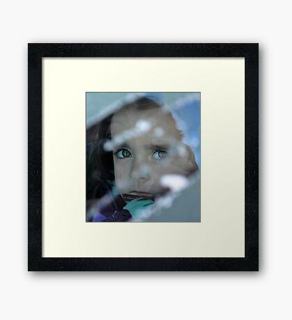 An unhappy Madam Framed Print