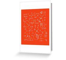 Math formulae (red) Greeting Card