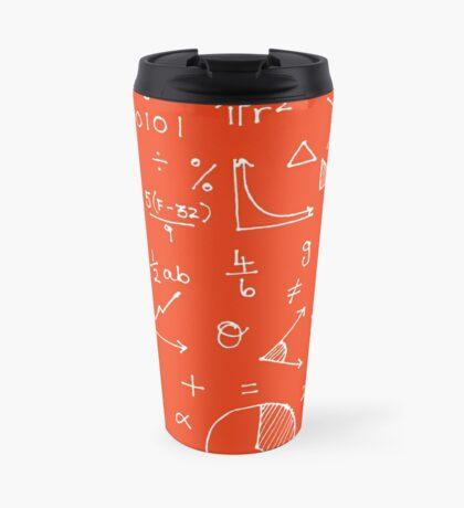 Math formulae (red) Travel Mug