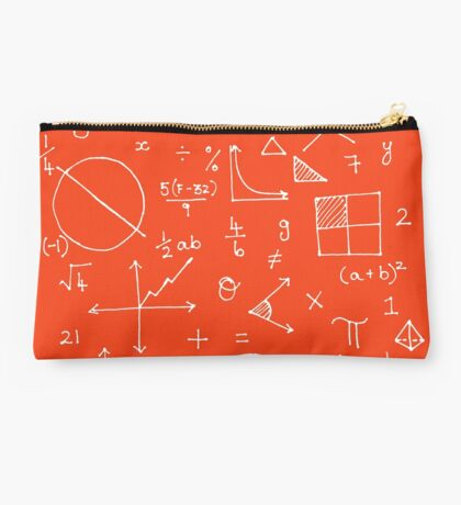 Math formulae (red) Studio Pouch