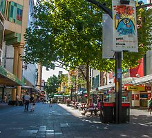 Rundle Mall - Looking along the Rundle Mall by DPalmer