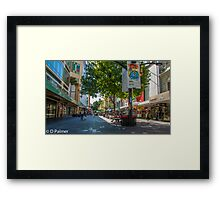 Rundle Mall - Looking along the Rundle Mall Framed Print