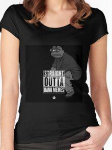 Dank Memes ( PEPE ) Women's Fitted Scoop T-Shirt