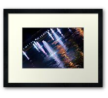Manchester's Neon Fountains Framed Print