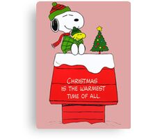 Best Friend Peanuts Snoopy and Woodstock Canvas Print