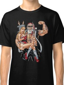 Strong Santa Claus X-Mas Pin Up Muscle Classic T-Shirt