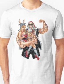 Strong Santa Claus X-Mas Pin Up Muscle RAHMENLOS Unisex T-Shirt